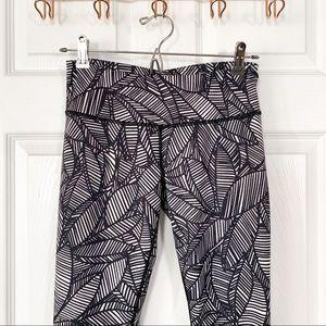 "lululemon athletica Pants - Lululemon Banana Leaf ""Wunder Under"" Pants"